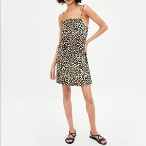 Zara Dresses - Zara Leopard Strappy Mini Dress NWT